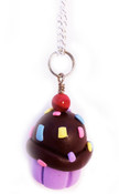 Cupcake with Sprinkles Necklace - 4 different colors!