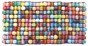 Wide Multi Colored Square Bead Mosaic Bracelet