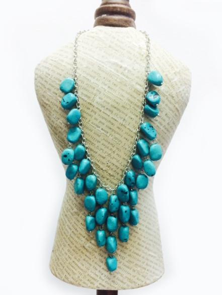 Zad Turquoise Stone Bib Necklace at Sears.com