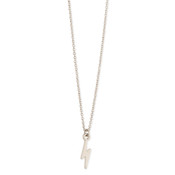 Silver Lightning Bolt Charm Necklace