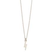 Silver Lightning Bolt Charm Necklace