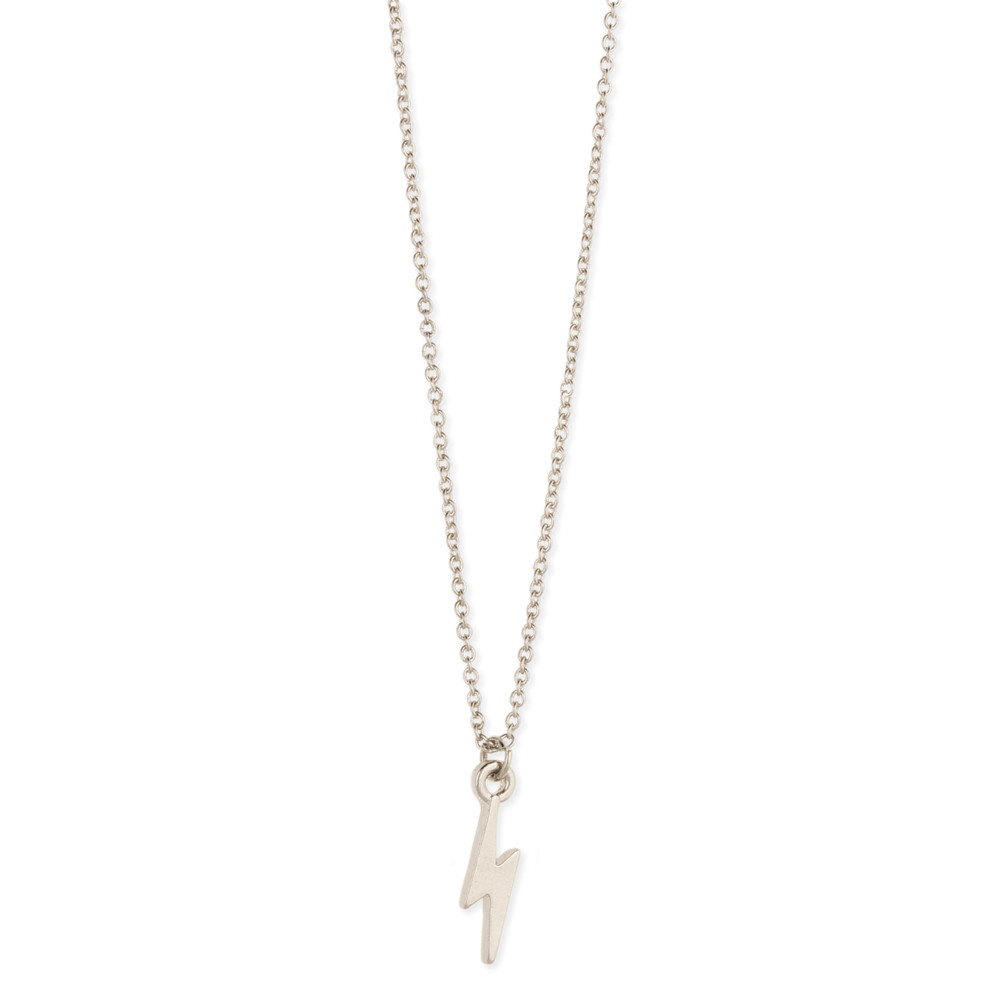 Zad Silver Lightning Bolt Charm Necklace at Sears.com