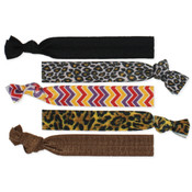 Set of Five Tribal Knotted Hair Ties
