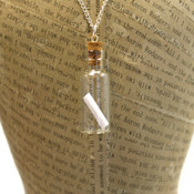 Message In A Bottle Necklace - Personalize it!