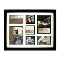 "Rosmere Modern 7-Opening Collage Photo Frame: Holds 2 Large-Size 7""x5"", 2 Medium-Size 5""x3.5"" And 3 Small Square-Size 3.5""x3.5"" Photos"