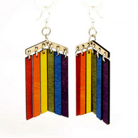 "Green Tree ""Rainbow Pride"" Renewable Natural Wood Earrings"