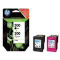 ORIGINAL HP 300 Black &amp; Colour Twin Pack (CN637EE) 4ml 