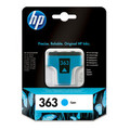 Original Cyan HP 363 Ink Cartridge - (Vivera C8771EE)