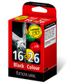 Original Lexmark 16 Black /26 Tri-colour Multipack (0080D2126)