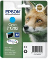 Genuine Cyan Epson T1282 Ink Cartridge - (C13T12824010) Fox