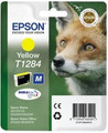 Genuine Yellow Epson T1284 Ink Cartridge - (C13T12844010) Fox
