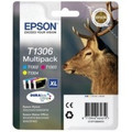Extra High Capacity 3 Colour Epson T1306 Ink Cartridge Multipack - (C13T13064010)