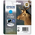 Genuine Extra High Capacity Cyan Epson T1302 Ink Cartridge - (C13T13024010)