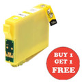 Compatible T1284 Yellow HIGH CAPACITY - (13ML PER CART) Fox/Apple Buy One Get One Free