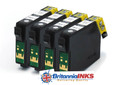 Compatible High Capacity Black T1291 Quad Pack - (C13T12914010)