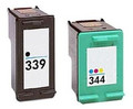 Compatible HP 339 Black & 344 Colour Ink Cartridge