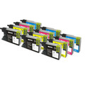 3 Sets of 4 Compatible Brother LC1240  Ink Cartridges (12 inks)