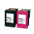 2 Remanufactured Black and Colour Ink 301XL For HP Deskjet 1000 1050 1050A 2000