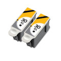 2 Black Ink Cartridges Replace 30 For Kodak ESP C100 C110 C115 C300 C310