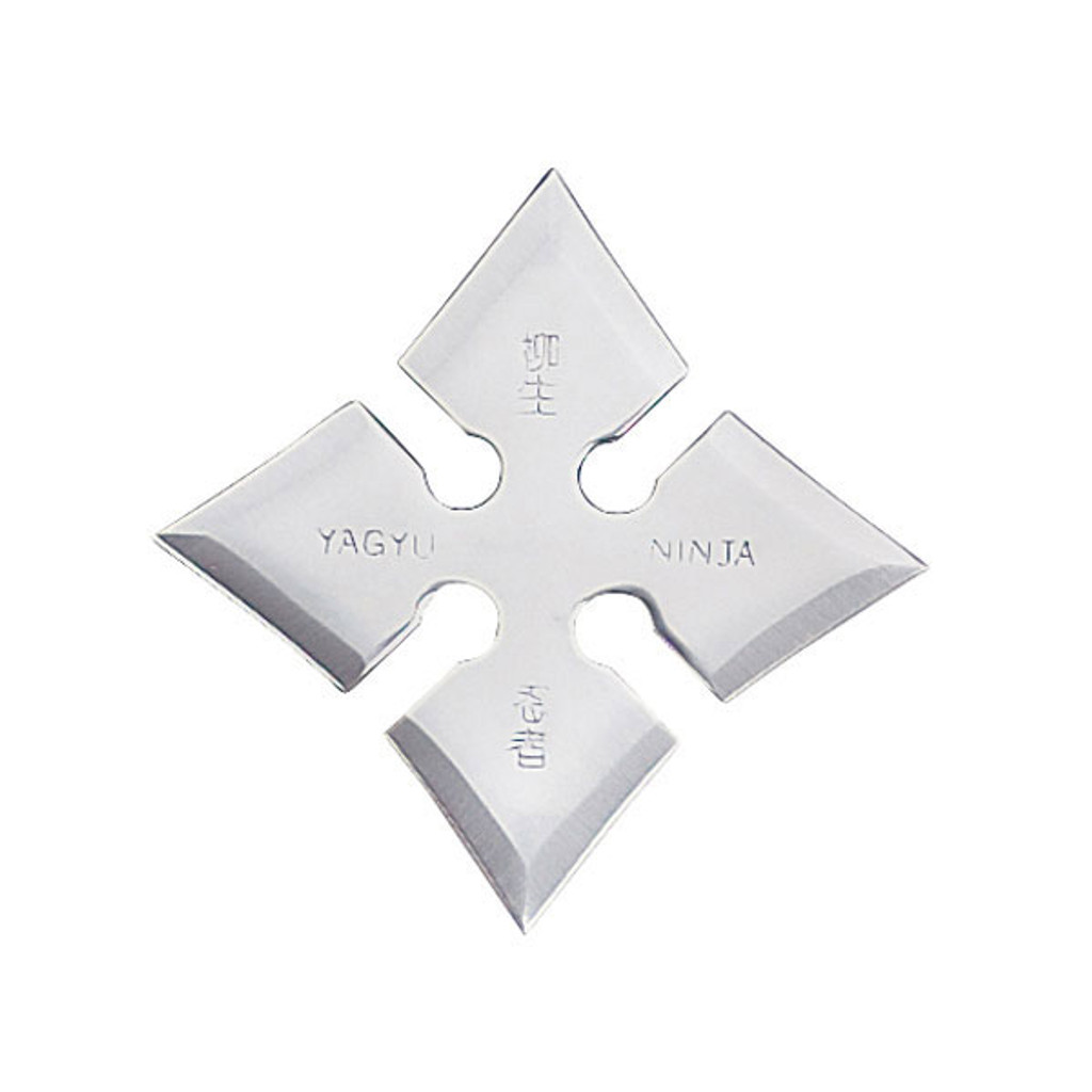 """4"""", 4 point throwing star with ninja characters"""