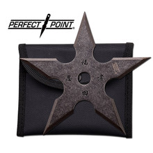 """Perfect Point 4"""", 5 point throwing star, stonewashed"""