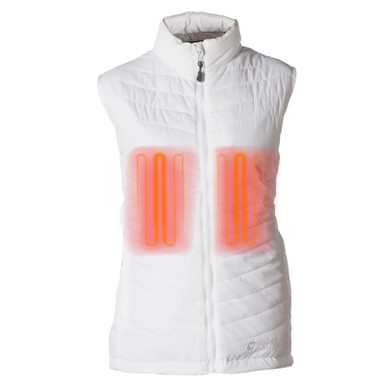 Women's Heated Puffer Vest  White