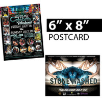 "6x8 Postcards, Club Flyers, Full Color Postcards, ""6x8"", 6x8 flyers"