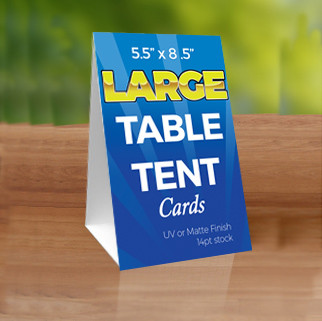 large table tent cards