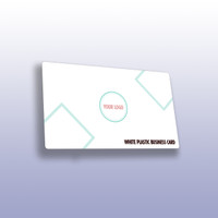 White Plastic Business Cards with Round Corners