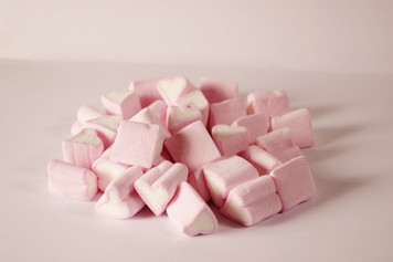 Pink & White Loveheart Marshmallows
