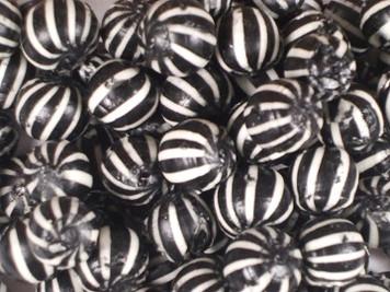 Gibbs Black and White Striped Balls