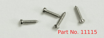 SM115:  Machine Screw special,  thread M1.1 head diameter 1.7mm OAL 5.5mm material nickel silver a copper alloy superior to brass, price for 100 pieces, finish color silver
