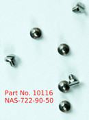 "Pan Head Machine Screw M.9 / 0.90 UNM Length .050"" Instrument grade part made of stainless steel, This is part was made on a precision screw machine not cold headed."