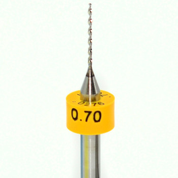 """Drill bit Size: 0.70mm  Flute length: sizes .50 to .65mm 8.90mm, sizes .70 to 2.50mm 10.50mm  Drill Point 135°, Shank .125"""" / 3.18mm,Overall length 38mm /1.50""""  All bits have plastic size rings, Material Micro-Grain Carbide  Drill bits Self centering on flat surface Other surfaces use center drill first     Mix-N-Match Precision Micro-Grain Carbide Drill Bits    Any Sizes .50mm to 2.50mm  Pick the Drill bits and quantities your discount is determined by """"Shopping Cart Total""""  10 Pieces to 24 Net Discounted Price $4.95 each  25 Pieces to 49 Net Discounted Price $4.45 each  50 & more Net Discounted Price $4.25 each  Discounts shown in """"You're Shopping Cart""""     Plus FREE shipping on orders over $50.00"""