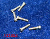 Machine Screw Modified Fillister head, thread M1.4 pitch .30mm (thread also called 1.40 UNM) head diameter 2.0mm, Length shank 6mm, see drawing and Overall length 7.0mm material Stainless steel, price for 100 pieces, finish color silver.