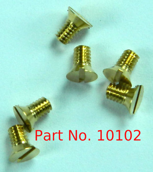 """1-72 Flat Head Slotted Machine Screw, Lenght 1/8"""" Full thread to under head Brass Price is for 100 pieces."""