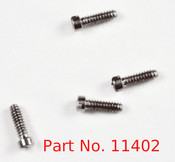 SM402:  Machine Screw special,  thread M1.0 head diameter 1.4mm OAL 3.9mm material nickel silver a copper alloy superior to brass price for 100 pieces, finish color silver