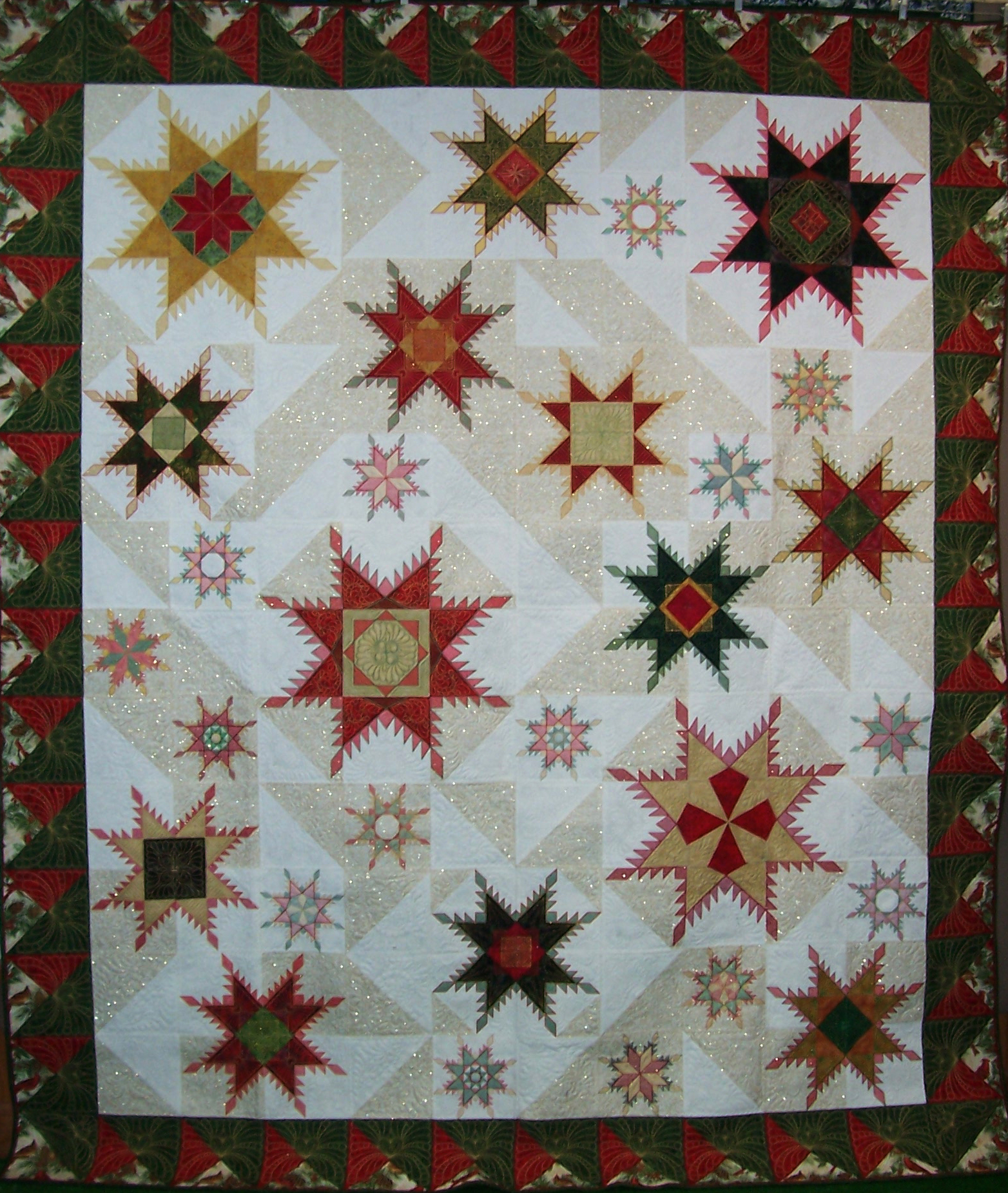 Feathered Star Cyber Quilt Show Hoopsisters
