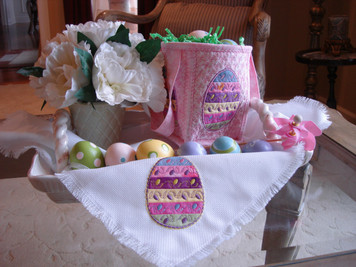 Easter Egg Hunt Postcard & Basket