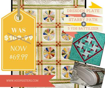 Double Bargain Bin SALE: Dresden Plate Starry Path
