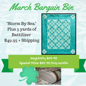 March Bargain Bin SALE: Storm By Sea