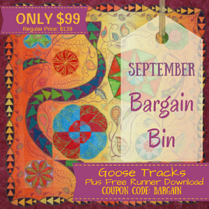 September Bargain Bin SALE: Goose Tracks