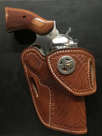 HF3 in Med. Brown for Ruger Redhawk, Extra Cost Cross Cut Stamp