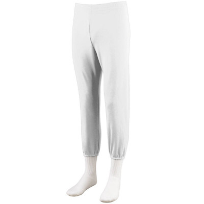 Augusta Youth Pull-Up Softball/Baseball Pant - WHITE