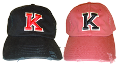 "KENTON ""K"" Distressed Baseball Hats"