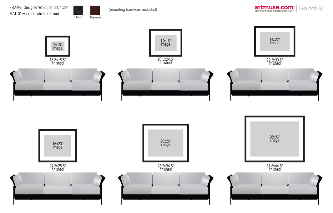 Framed Prints Size Chart