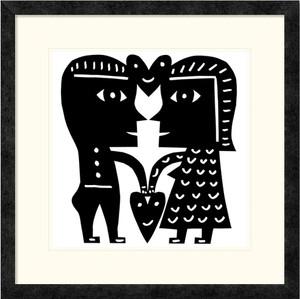 Happy Hearts | Jad Fair | Ebony Frame