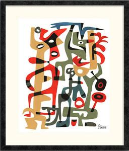 Abstract Tangle 2 | Jim Flora | Ebony frame