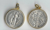 XL Saint Benedict Medallion GOLD PLATED Edge