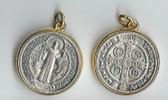 SM Saint Benedict Medallion GOLD PLATED Edge